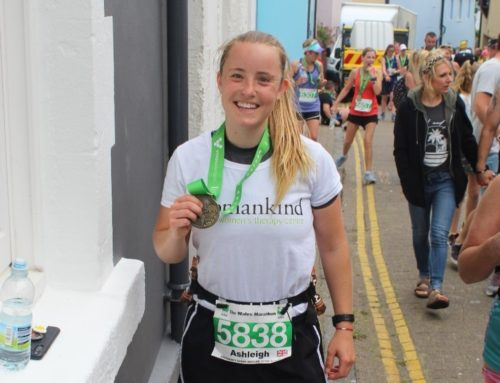 Ash runs the Welsh Marathon for Womankind!