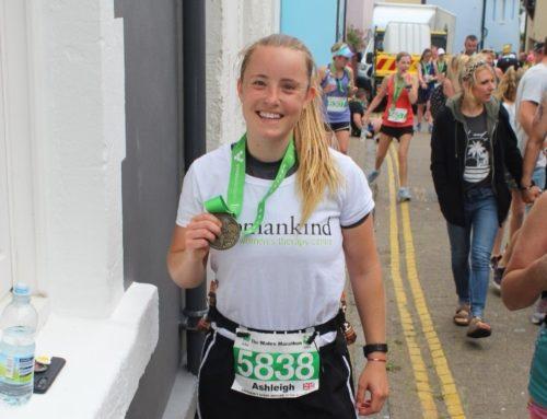 Ash runs the Welsh Marathon for Womankind!