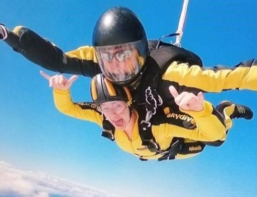 Amie skydives for Womankind!