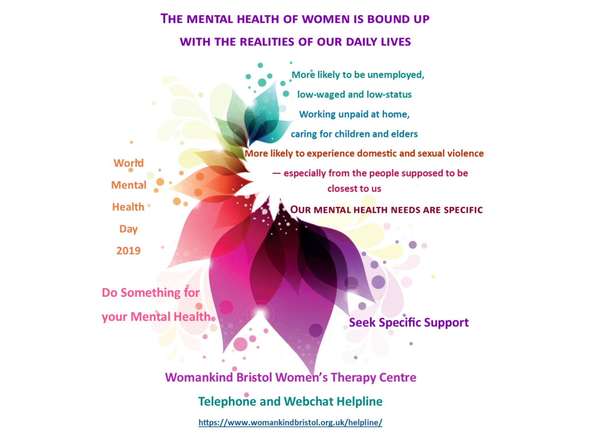 World Mental Health Day is 10th October - Womankind Bristol