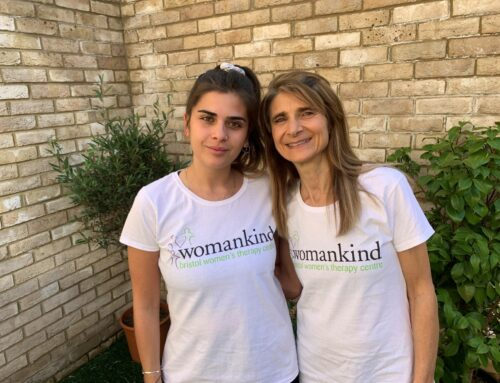 Dani and Kim run for Womankind!
