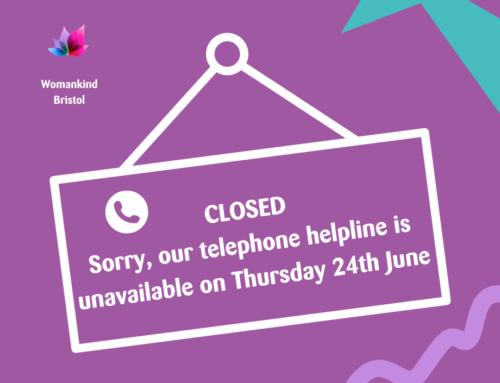 Telephone Helpline: Thursday 24th June